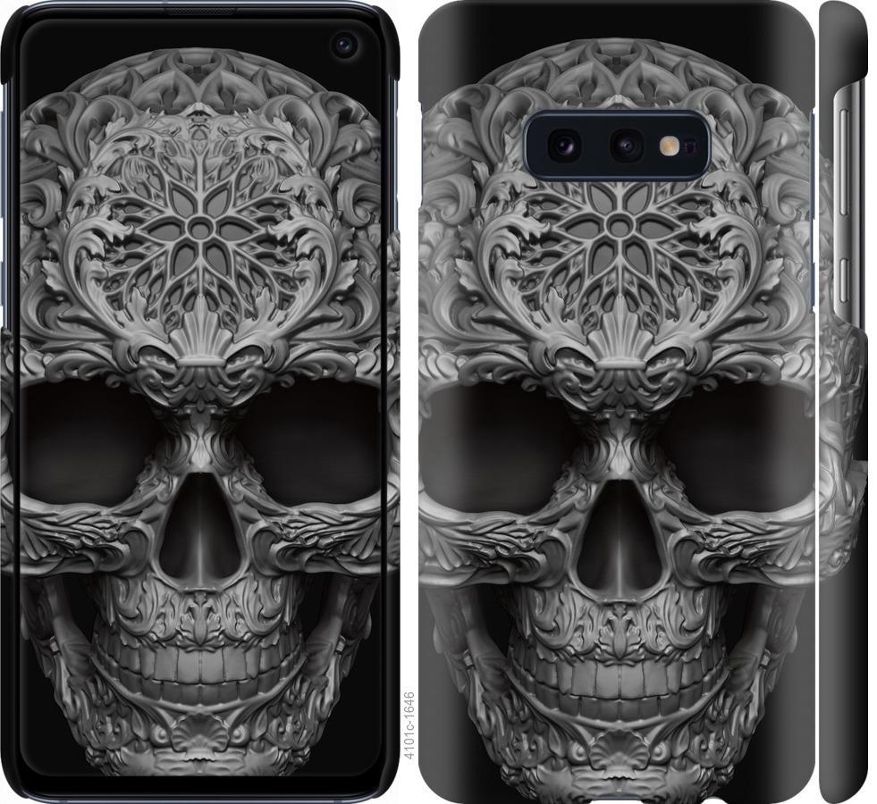 Чехол на Samsung Galaxy S10e skull-ornament