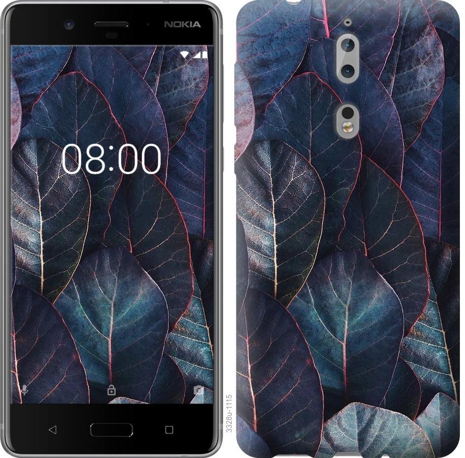 Чехол на Nokia 8 Листья v3
