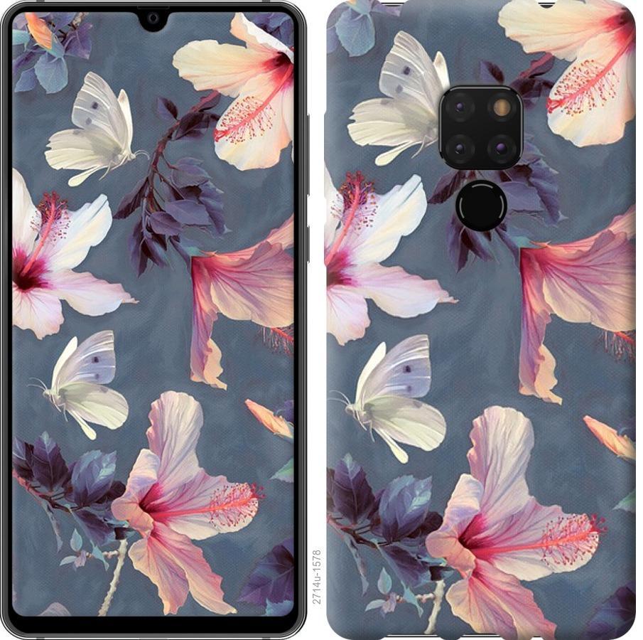 Чехол на Huawei Mate 20 Нарисованные цветы