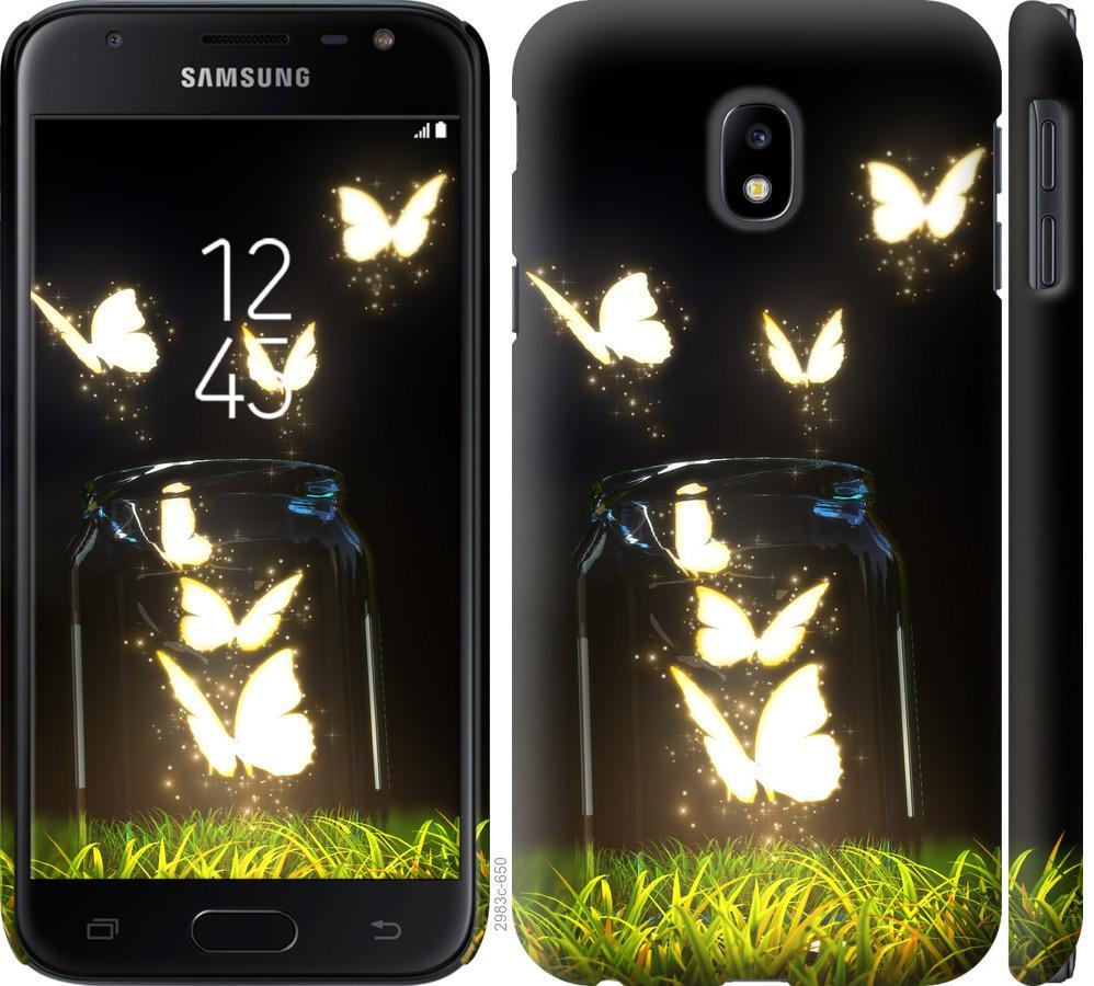 Чохол на Samsung Galaxy J3 (2017)  Сяючі метелики