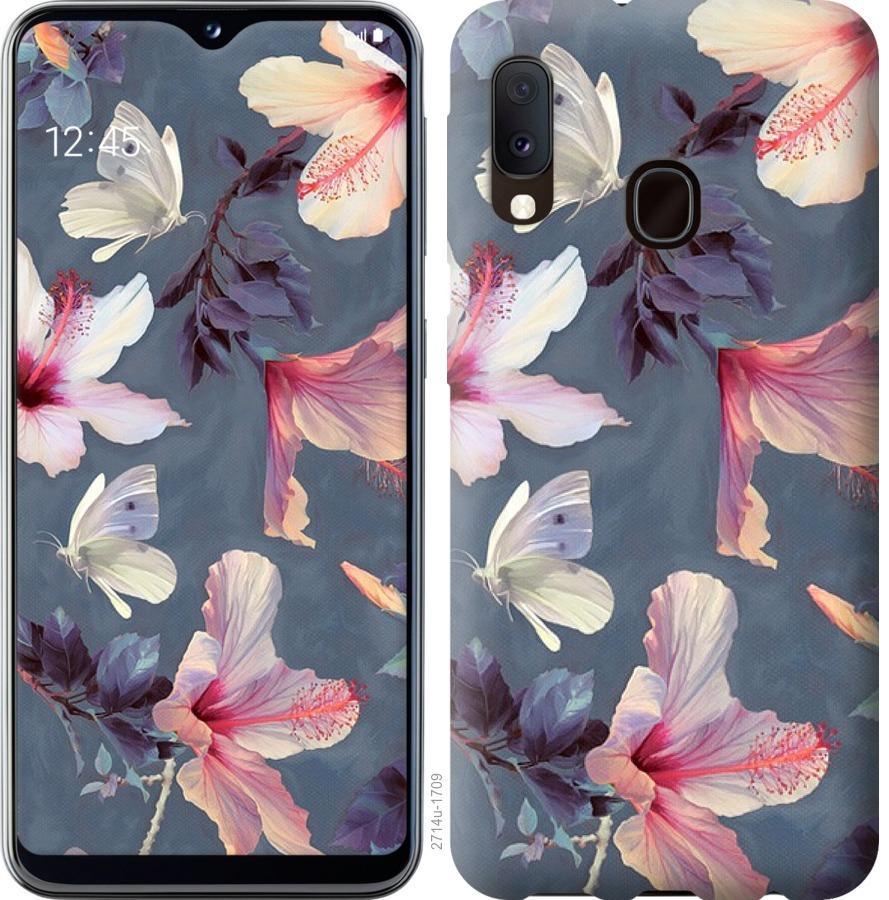 Чохол на Samsung Galaxy A20e A202F Намальовані квіти