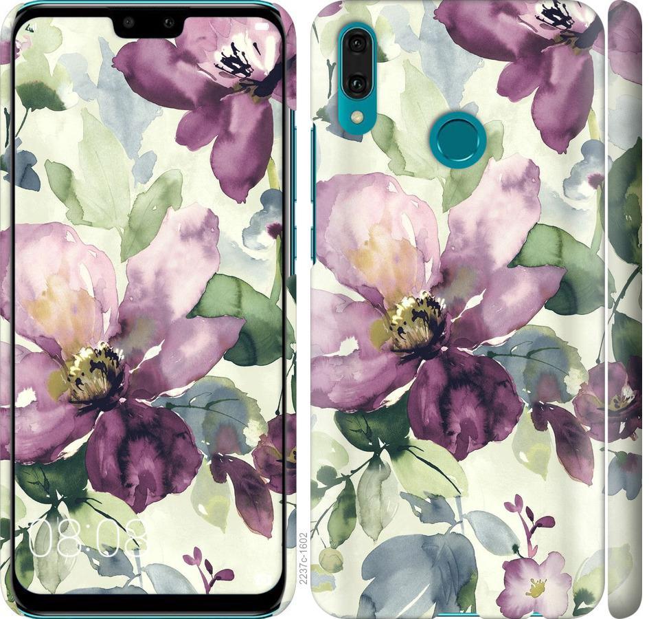 Чехол на Huawei Y9 2019 Цветы акварелью