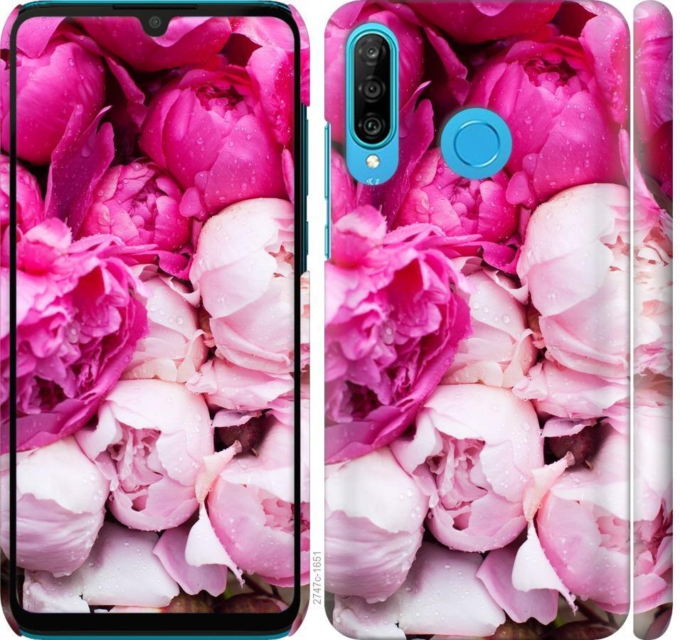Чехол на Huawei P30 Lite Розовые пионы