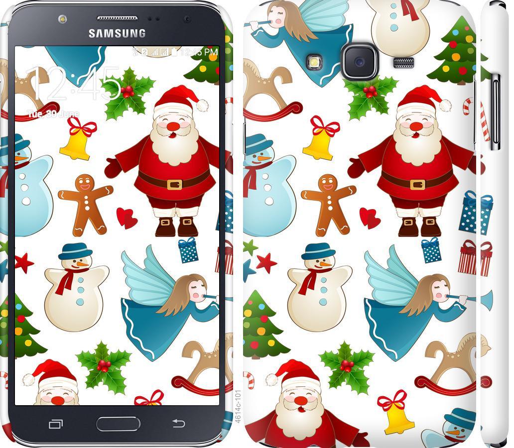 Чехол на Samsung Galaxy J7 J700H Новогодний 1
