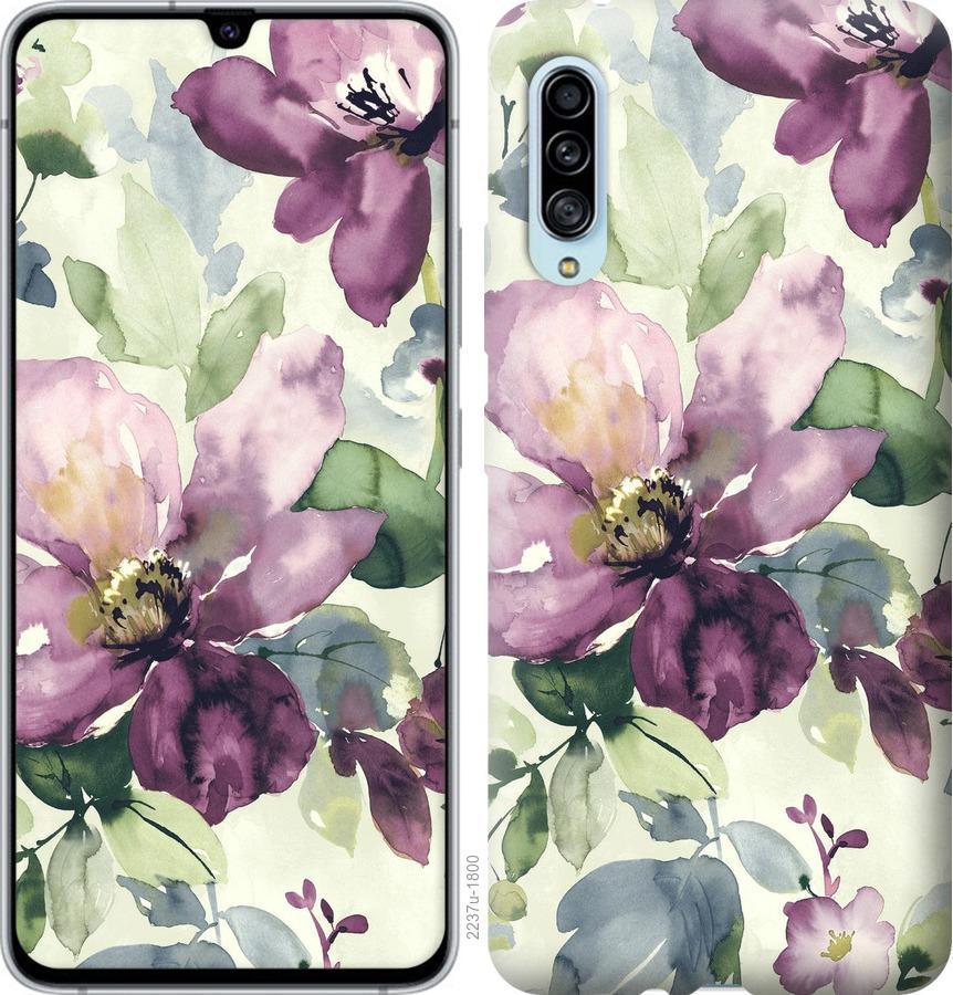 Чехол на Samsung Galaxy A90 5G Цветы акварелью
