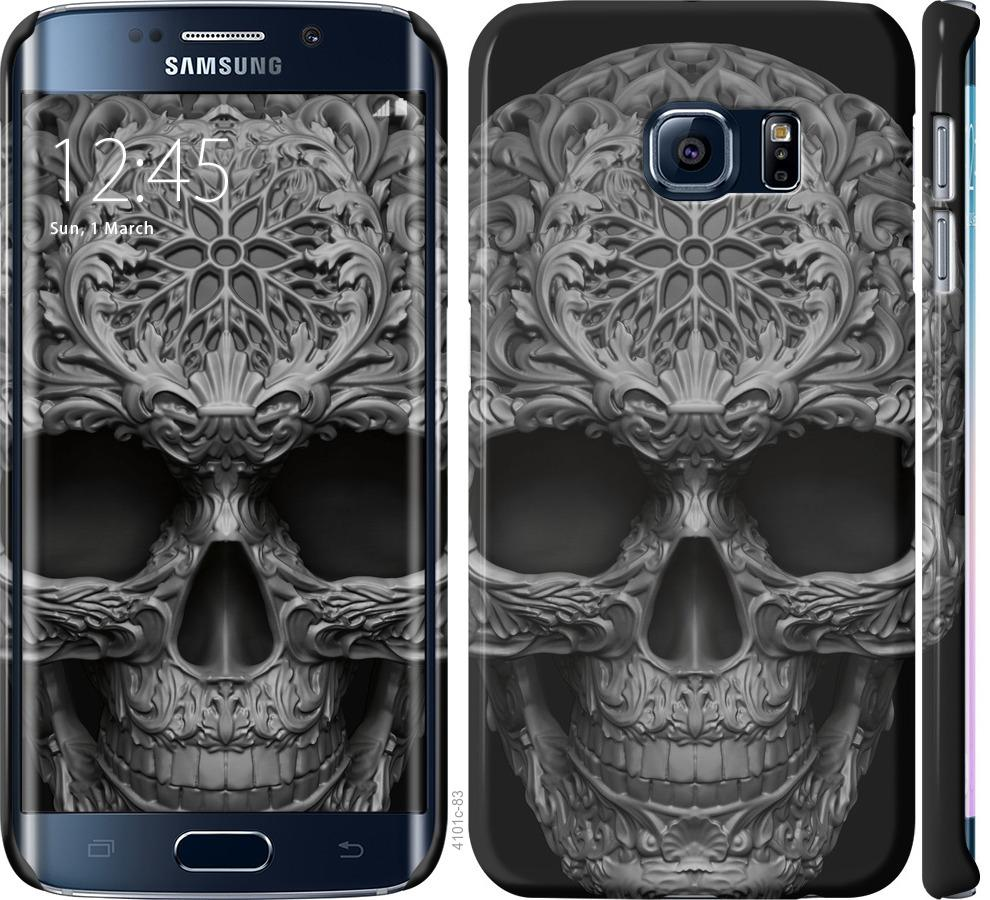 Чехол на Samsung Galaxy S6 Edge G925F skull-ornament