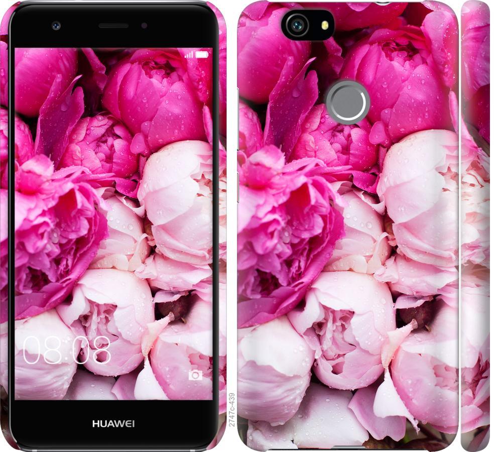 Чехол на Huawei Nova Розовые пионы