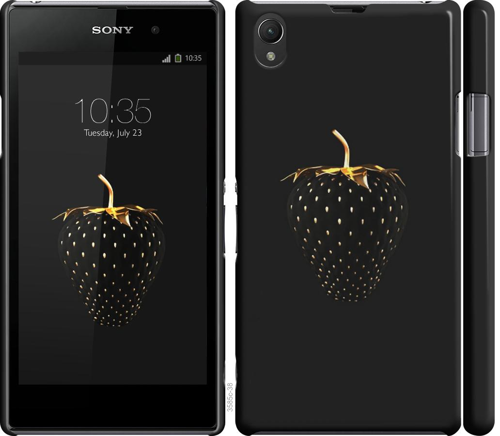 Чехол на Sony Xperia Z1 C6902 Черная клубника