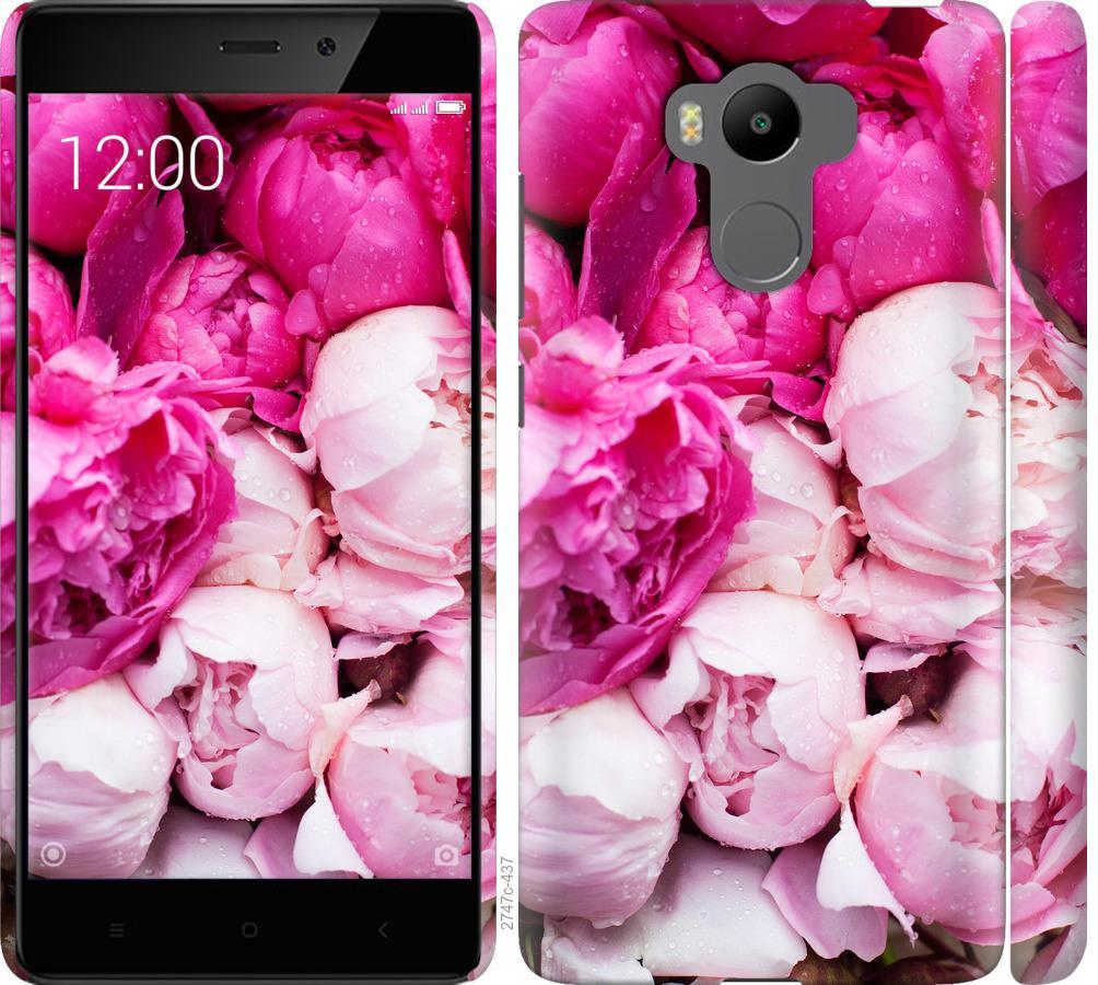 Чохол на Xiaomi Redmi 4 pro Рожеві півонії
