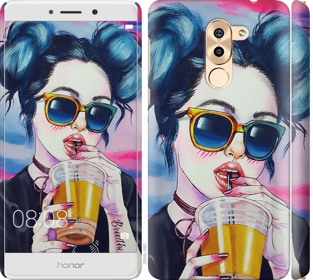 Чехол на Huawei GR5 2017 Арт-девушка в очках