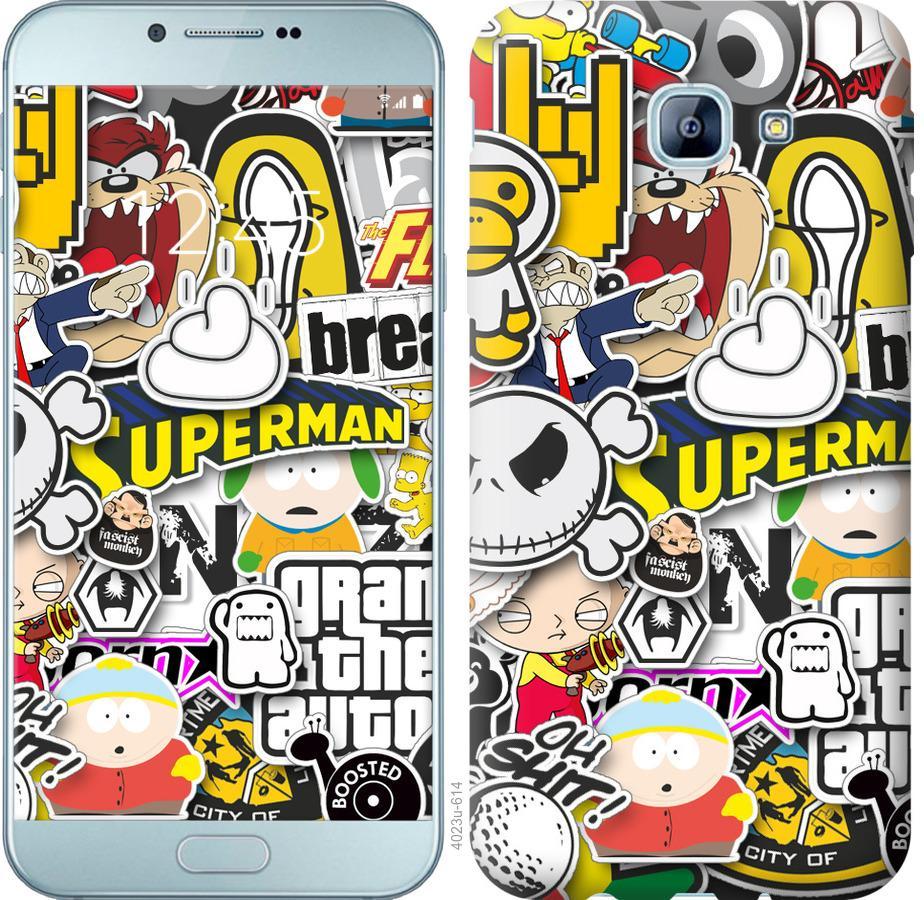 Чехол на Samsung Galaxy A8 (2016) A810 Popular logos