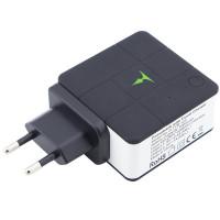 Мережевий і портативний зарядний пристрій T-phox (2в1 сам себе заряджає) (5000mAh 2USB 2.4A) (EU)