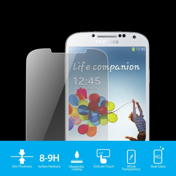 Фото SGP Screen Protector GLAS.t SLIM Premium Tempered Glass Series для Samsung i9500 Galaxy S4 на itsell.ua