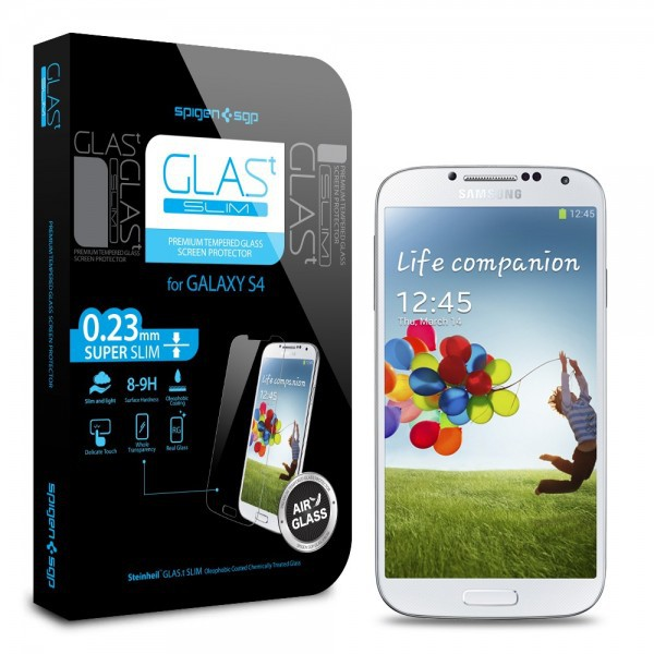 SGP Screen Protector GLAS.t SLIM Premium Tempered Glass Series для Samsung i9500 Galaxy S4