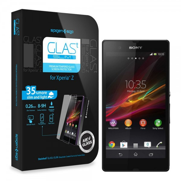 SGP Screen Protector GLAS.t SLIM Premium Tempered Glass Series для Sony Xperia Z (L36i)