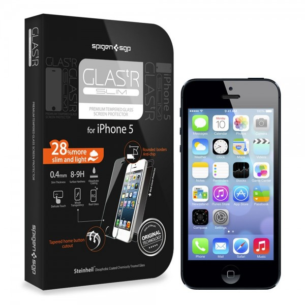 Купить SGP Screen Protector GLAS.tR SLIM Premium Tempered Glass Series для Apple iPhone 5/5S/5C за 593 грн