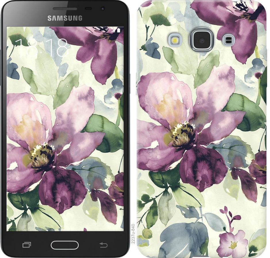 Чехол на Samsung Galaxy J3 Pro Цветы акварелью