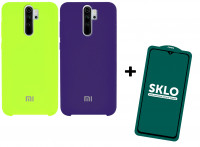 Чехол Silicone Cover (AA)+Защитное стекло SKLO 5D (full glue) для Xiaomi Redmi Note 8 Pro