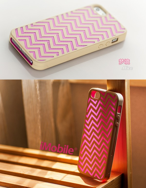 Фото Силиконовый чехол iMobile Impression Laser Series для Apple iPhone 5/5S/SE Alice / Pink-biege на itsell.ua
