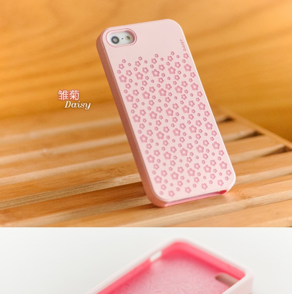 Фото Силиконовый чехол iMobile Impression Laser Series для Apple iPhone 5/5S/SE Daisy / Pink на itsell.ua