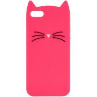 Силиконовая накладка 3D Cat для Apple iPhone 5/5S/SE