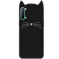 Силиконовая накладка 3D Cat для Oppo Reno 3 5G
