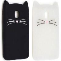 Силиконовая накладка 3D Cat для Samsung J730 Galaxy J7 (2017)