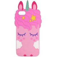 Силiконова накладка 3D Little Unicorn для Apple iPhone 5/5S/SE