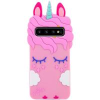 Силиконовая накладка 3D Little Unicorn для Samsung Galaxy S10+
