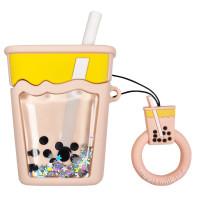 Силиконовый футляр Cocktail series with Sparcles & Water для наушников AirPods 1/2 + кольцо