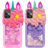 Силиконовый чехол Unicorn 3D для Samsung Galaxy A71
