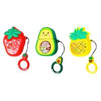 Силиконовый футляр Fruits series with Sparkles & Water для наушников AirPods 1/2 + кольцо
