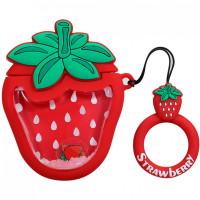Силиконовый футляр Fruits series with Sparcles & Water для наушников AirPods + кольцо