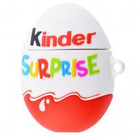 Силиконовый футляр Kinder Surprise с карабином для наушников AirPods 1/2