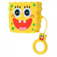 Силиконовый футляр с кольцом SpongeBob для наушников AirPods Pro