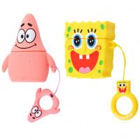 Силиконовый футляр SpongeBob series для наушников AirPods + кольцо