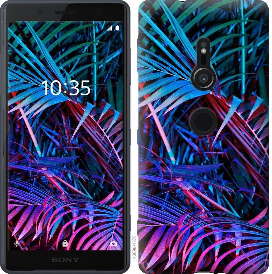 Чехол на Sony Xperia XZ2 H8266 Папоротник под ультрафиолетом