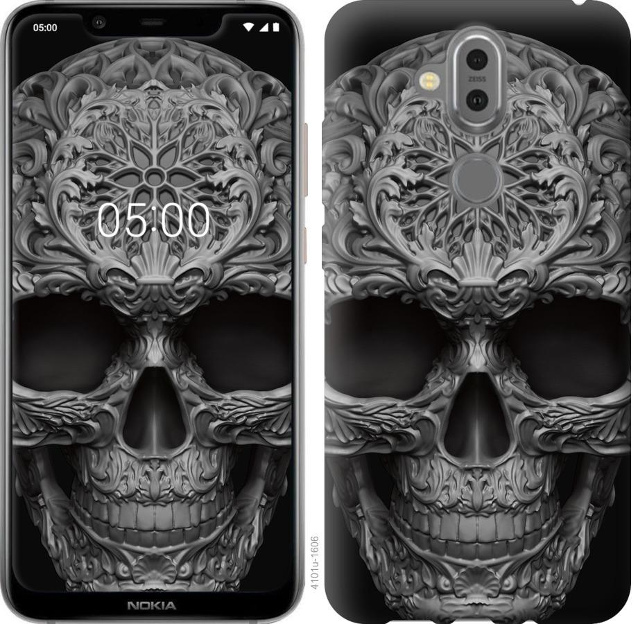 Чехол на Nokia 8.1 skull-ornament