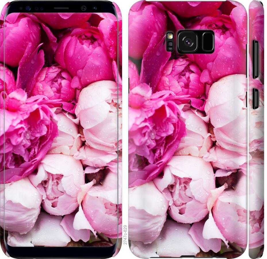Чехол на Samsung Galaxy S8 Розовые пионы