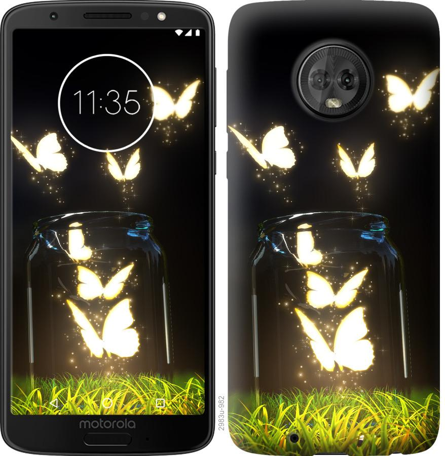 Чохол на Motorola Moto G6  Сяючі метелики