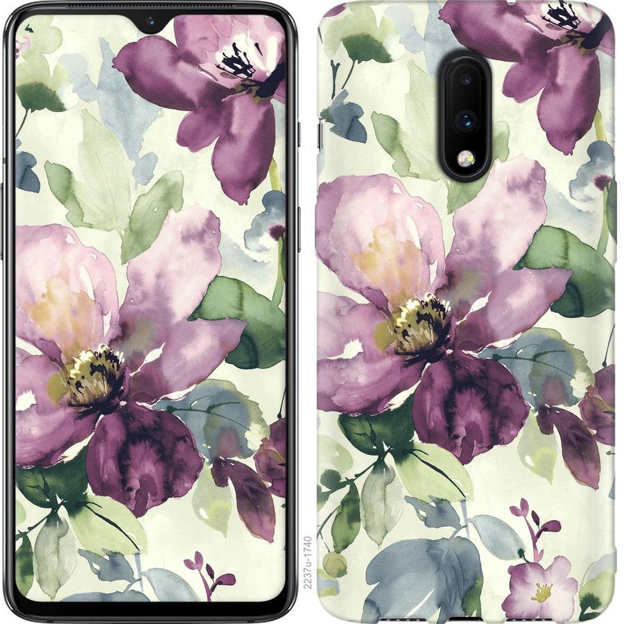 Чехол на OnePlus 7 Цветы акварелью