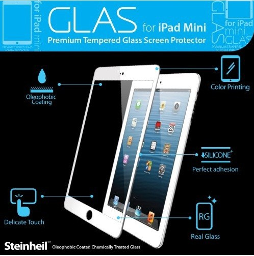 Фото Защитная пленка SGP GLAS Premium Tempered Glass Series для Apple IPAD mini Черный / Black Oleophobic на itsell.ua