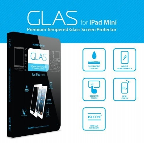 Фото Защитная пленка SGP GLAS Premium Tempered Glass Series для Apple IPAD mini Черный / Black Oleophobic в магазине itsell.ua