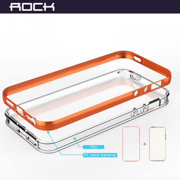 Фото Светящийся TPU чехол ROCK Tube Series для Apple iPhone 5/5S/SE в магазине itsell.ua