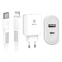 СЗУ Baseus Bojure PD Quick Charger + Cable (Lightning) 32W 1Type-C 1USB