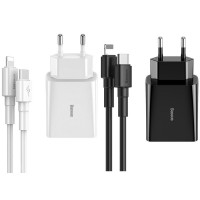 СЗУ Baseus Speed Mini PD Charger 18W Type-C with Mini White Cable Type-C to Lightning PD 18W