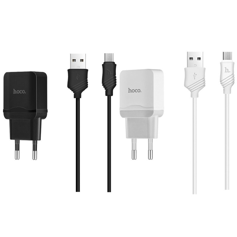 СЗУ HOCO C22A USB Charger 2.4A (+ кабель microUSB)