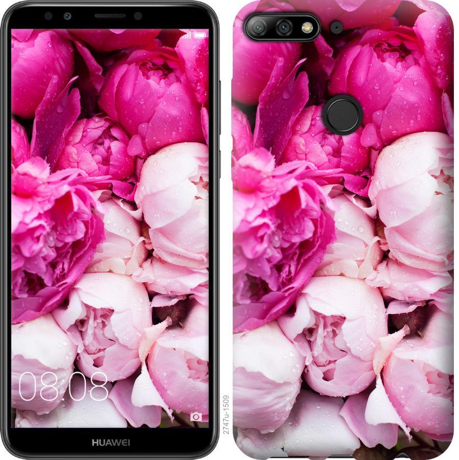 Чехол на Huawei Y7 Prime 2018 Розовые пионы