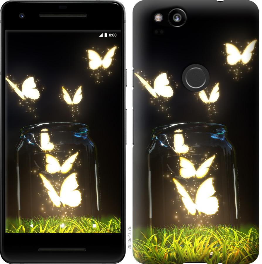 Чехол на Google Pixel 2 Бабочки
