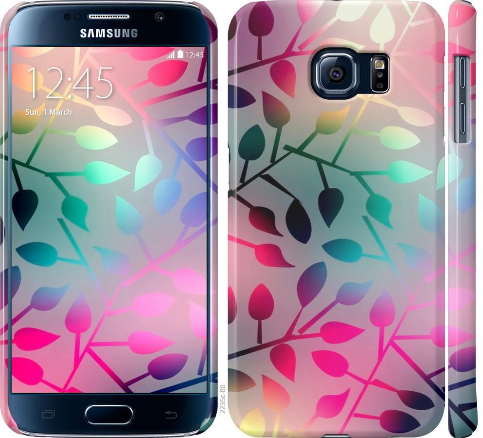 Чехол на Samsung Galaxy S6 G920 Листья